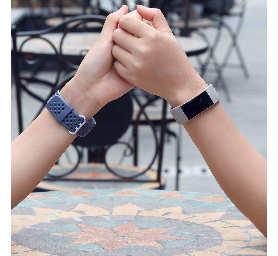 Fitbit Charge 3 siliconen bandje met gaatjes (grijs)