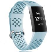 Fitbit Charge 3 siliconen bandje met gaatjes (mint)