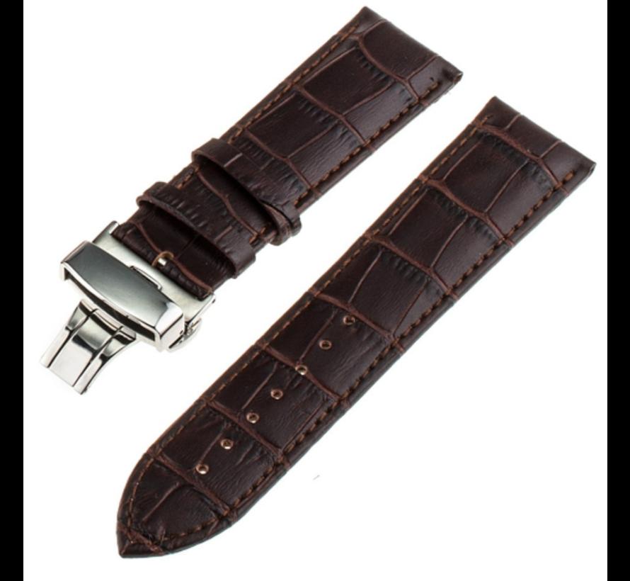 Samsung Galaxy Watch leren luxe band (donkerbruin)