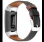 Fitbit Charge 4 leren bandje (zwart)