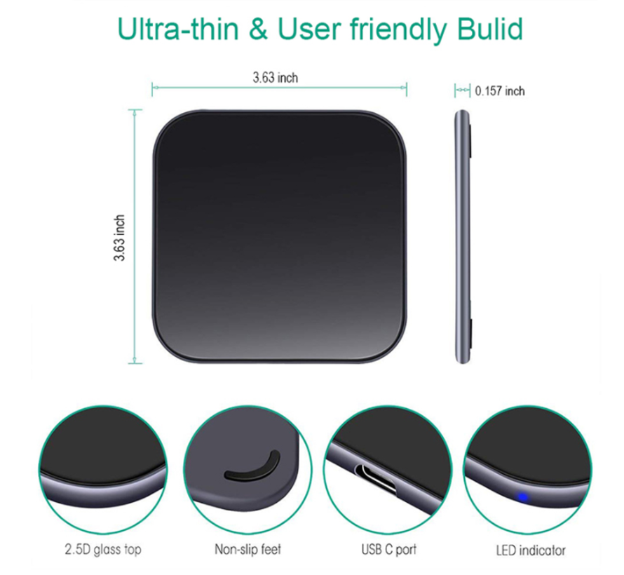 Shieldcase Fast wireless charger  smartphone - 15W