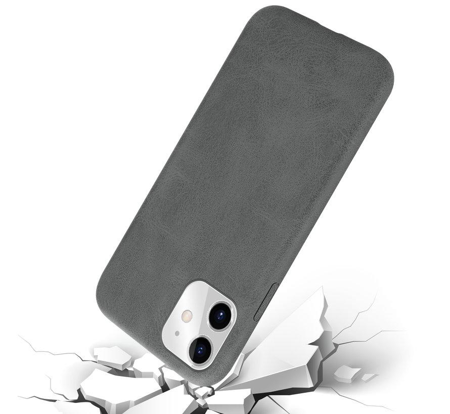 Shieldcase iPhone 11 hoesje leer (grijs)