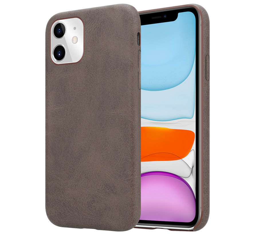 Shieldcase iPhone 11 hoesje leer (bruin)