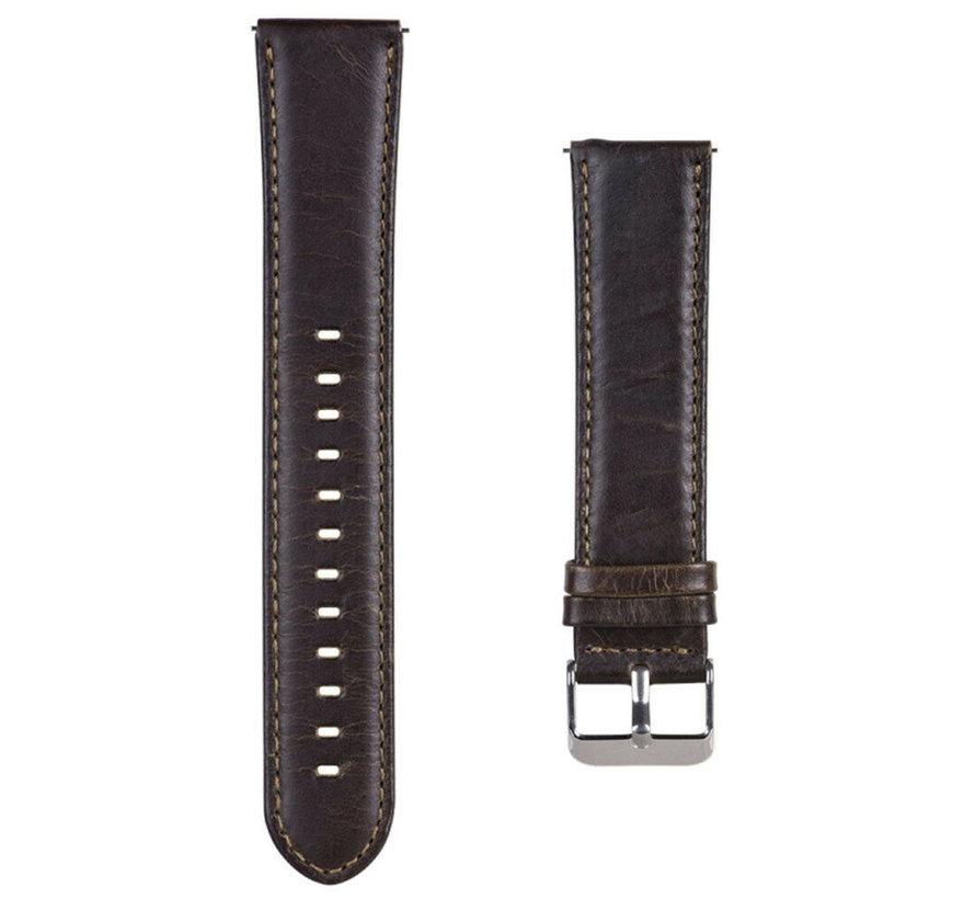 Huawei Watch GT bandje leer (donkerbruin)