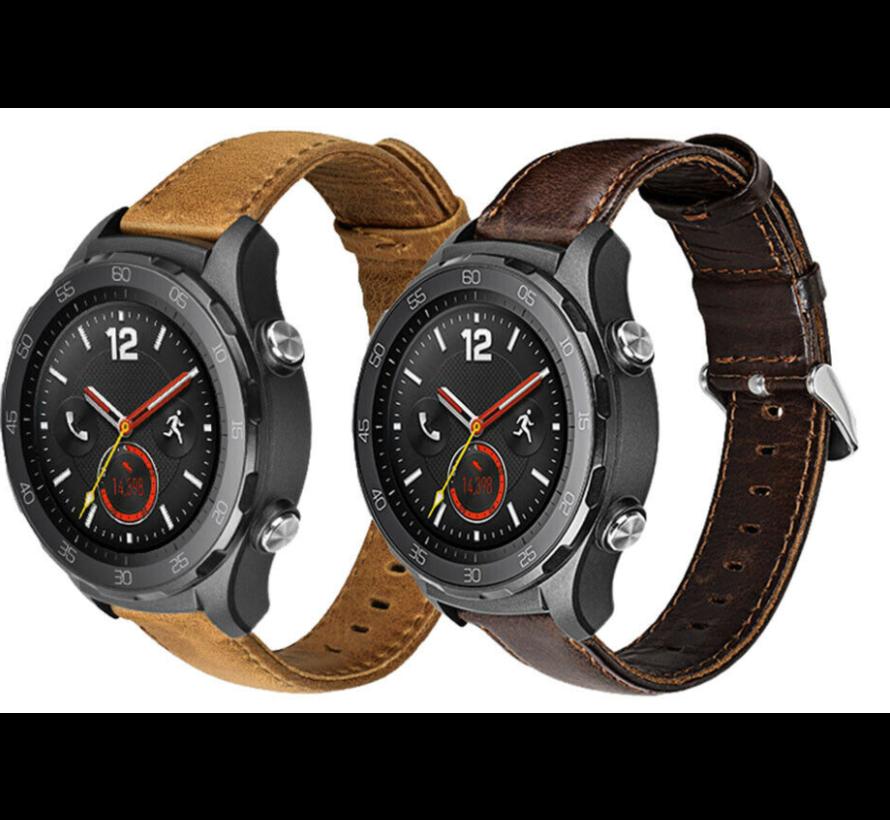 Huawei Watch GT bandje leer (bruin)