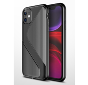 ShieldCase® Gestreept siliconen hoesje iPhone 11 Pro (zwart)
