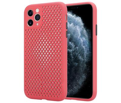 ShieldCase Shieldcase siliconen hoesje met gaatjes iPhone 11 Pro Max (rood)