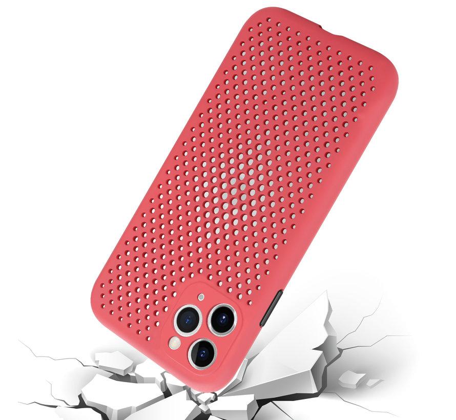 Shieldcase siliconen hoesje met gaatjes iPhone 11 Pro Max (rood)