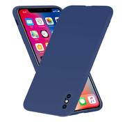 ShieldCase® Siliconen hoesje met camera bescherming iPhone X / Xs (blauw)