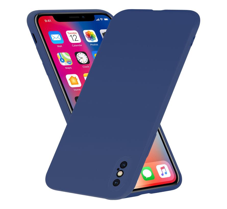 Shieldcase Siliconen hoesje met camera bescherming iPhone X / Xs (blauw)