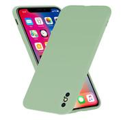ShieldCase® Siliconen hoesje met camera bescherming iPhone X / Xs (lichtgroen)