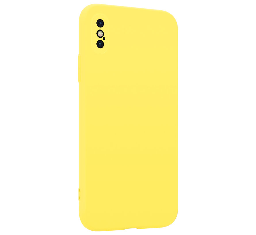 Shieldcase Siliconen hoesje met camera bescherming iPhone X / Xs (geel)