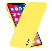ShieldCase® Siliconen hoesje met camera bescherming iPhone X / Xs (geel)