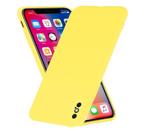 ShieldCase Shieldcase Siliconen hoesje met camera bescherming iPhone X / Xs (geel)