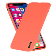 ShieldCase® Siliconen hoesje met camera bescherming iPhone X / Xs (oranje)