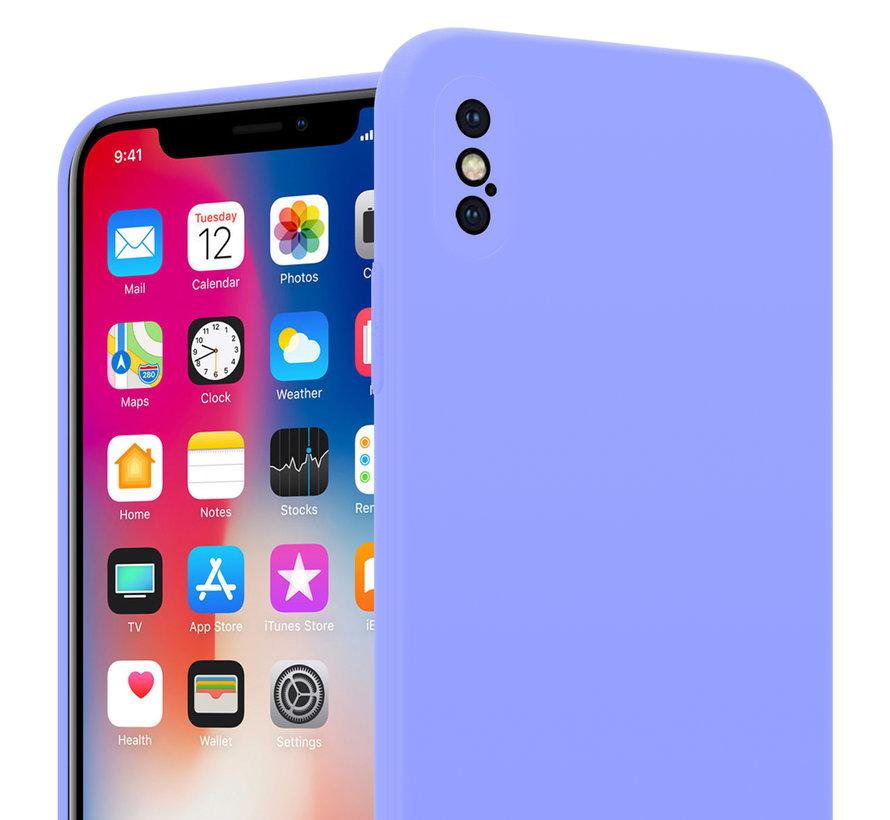 Shieldcase Siliconen hoesje met camera bescherming iPhone X / Xs (paars)