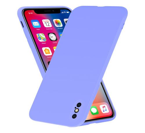 ShieldCase Shieldcase Siliconen hoesje met camera bescherming iPhone X / Xs (paars)