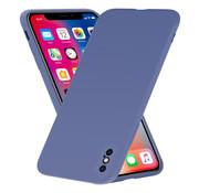 ShieldCase® Siliconen hoesje met camera bescherming iPhone X / Xs (lavendel grijs)