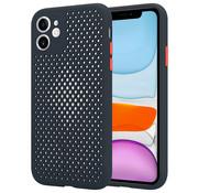 ShieldCase® Siliconen hoesje met gaatjes iPhone 11 (zwart)