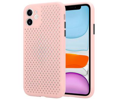 ShieldCase Shieldcase siliconen hoesje met gaatjes iPhone 11 (roze)