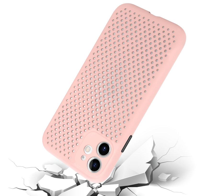 Shieldcase siliconen hoesje met gaatjes iPhone 11 (roze)