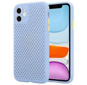 ShieldCase® Siliconen hoesje met gaatjes iPhone 11 (lichtpaars)
