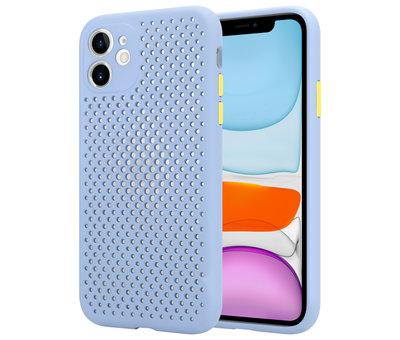 ShieldCase® Shieldcase siliconen hoesje met gaatjes iPhone 11 (lichtpaars)