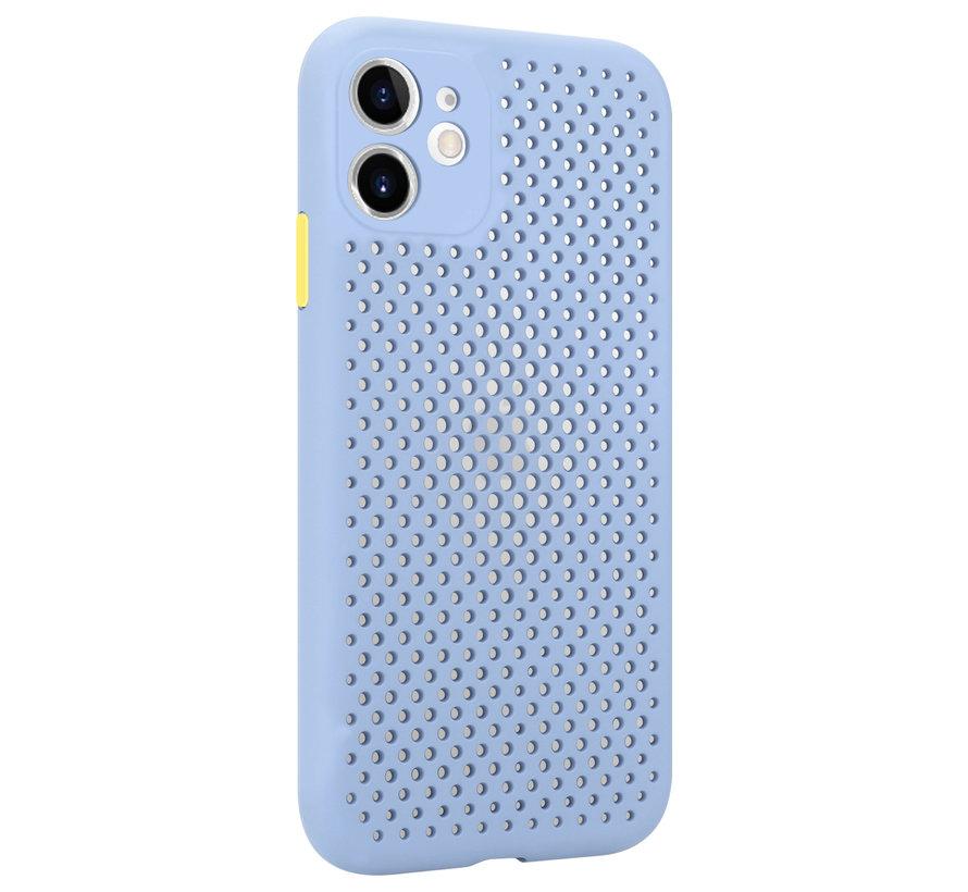 Shieldcase siliconen hoesje met gaatjes iPhone 11 (lichtpaars)