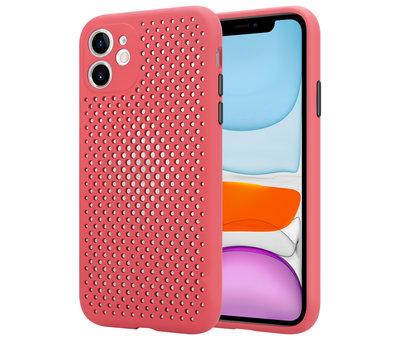ShieldCase Shieldcase siliconen hoesje met gaatjes iPhone 11 (rood)