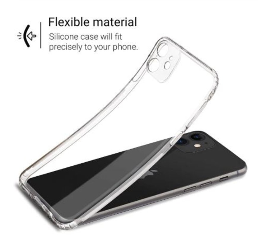 Shieldcase Siliconen hoesje met camera bescherming iPhone 11 (transparant)