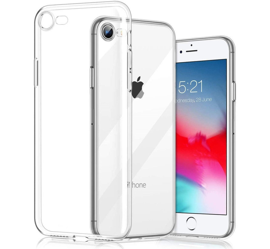 Shieldcase Siliconen hoesje met camera bescherming iPhone SE 2020 (transparant)