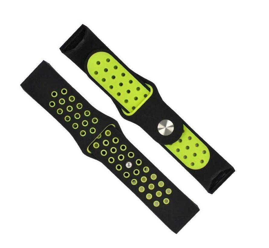 Fitbit Charge 3 sport bandje (zwart geel)