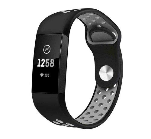 Fitbit Charge 4 sport band (zwart grijs)