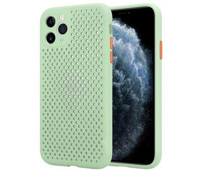 ShieldCase® Shieldcase siliconen hoesje met gaatjes iPhone 11 Pro (lichtgroen)