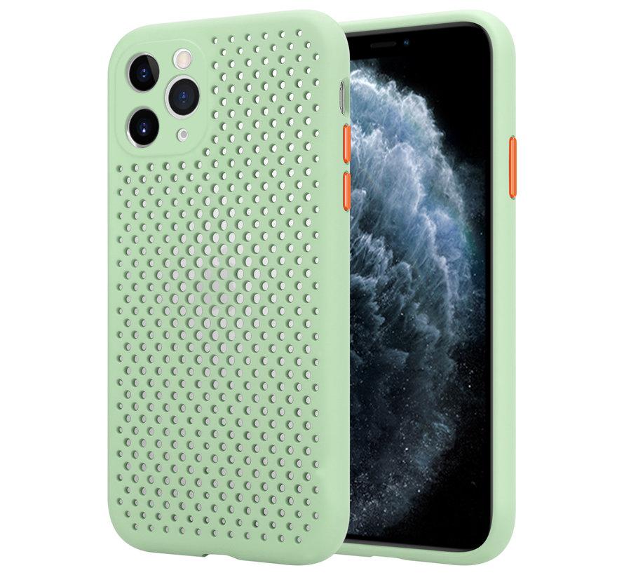Shieldcase siliconen hoesje met gaatjes iPhone 11 Pro (lichtgroen)