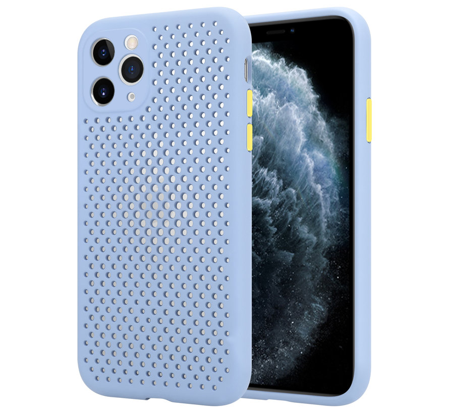 Shieldcase siliconen hoesje met gaatjes iPhone 11 Pro (lichtpaars)