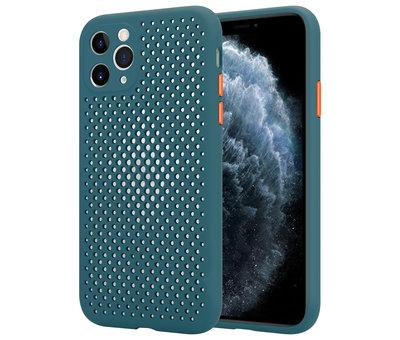 ShieldCase® Shieldcase siliconen hoesje met gaatjes iPhone 11 Pro (donkergroen)