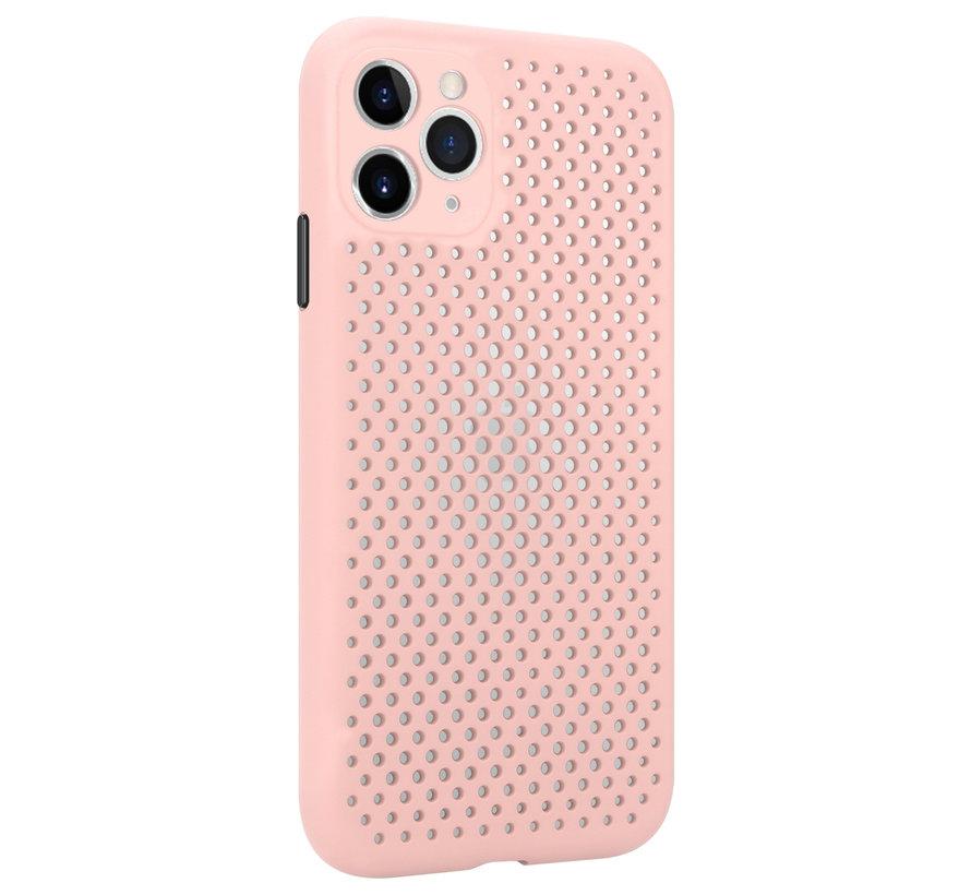 Shieldcase siliconen hoesje met gaatjes iPhone 11 Pro (roze)