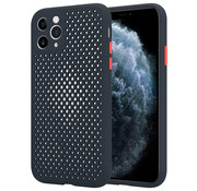 ShieldCase Siliconen hoesje met gaatjes iPhone 11 Pro (zwart)