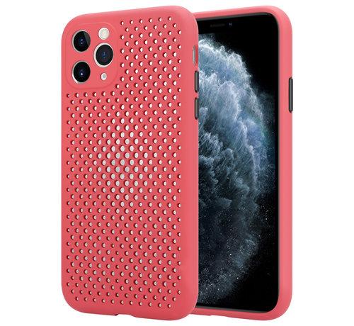 ShieldCase® Shieldcase siliconen hoesje met gaatjes iPhone 11 Pro (rood)