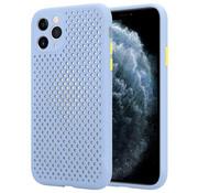 ShieldCase® Siliconen hoesje met gaatjes iPhone 11 Pro Max (lichtpaars)