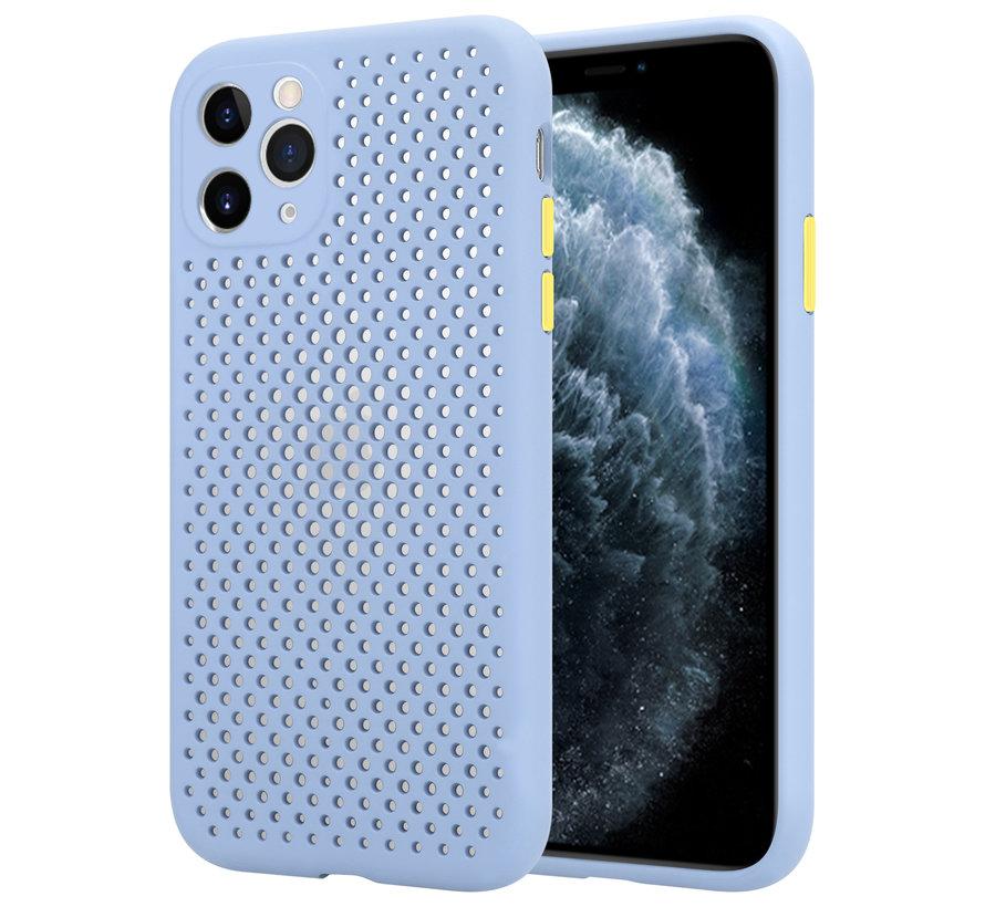 Shieldcase siliconen hoesje met gaatjes iPhone 11 Pro Max (lichtpaars)