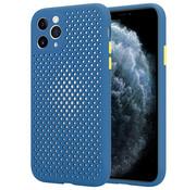 ShieldCase Siliconen hoesje met gaatjes iPhone 11 Pro Max (donkerblauw)