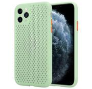 ShieldCase Siliconen hoesje met gaatjes iPhone 11 Pro Max (lichtgroen)