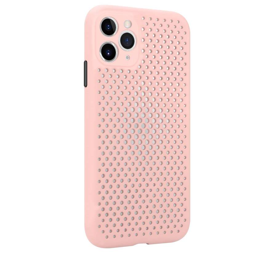 Shieldcase siliconen hoesje met gaatjes iPhone 11 Pro Max (roze)