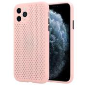 ShieldCase® Siliconen hoesje met gaatjes iPhone 11 Pro Max (roze)