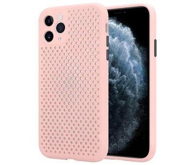 ShieldCase® Shieldcase siliconen hoesje met gaatjes iPhone 11 Pro Max (roze)