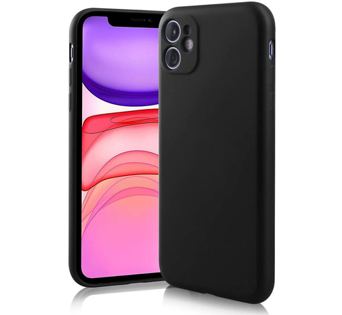 ShieldCase® Shieldcase Siliconen hoesje met camera bescherming iPhone 11 (zwart)