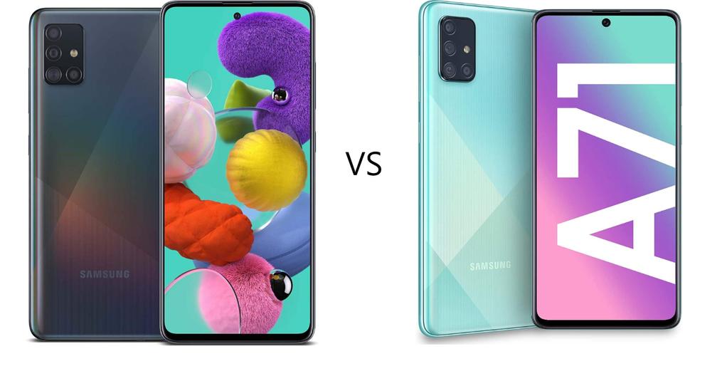 Samsung A51 vs A71