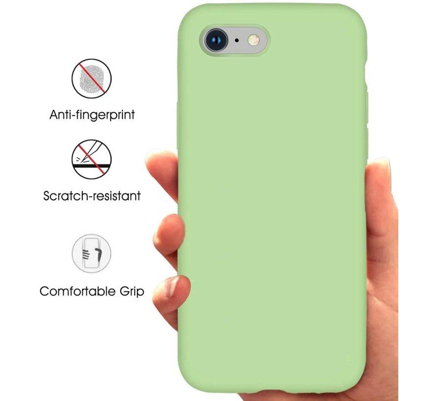Shieldcase iPhone 7 / iPhone 8 / iPhone SE 2020 hoesje siliconen (lichtgroen)